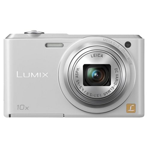 Panasonic Lumix SZ3 Digital Camera White 10X Optical Zoom 16MP 2.7