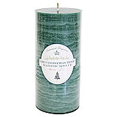 Botanicals Rustic Pillar Candle Large Christmas Tree