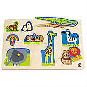 Hape Wild Animals Peg Puzzle