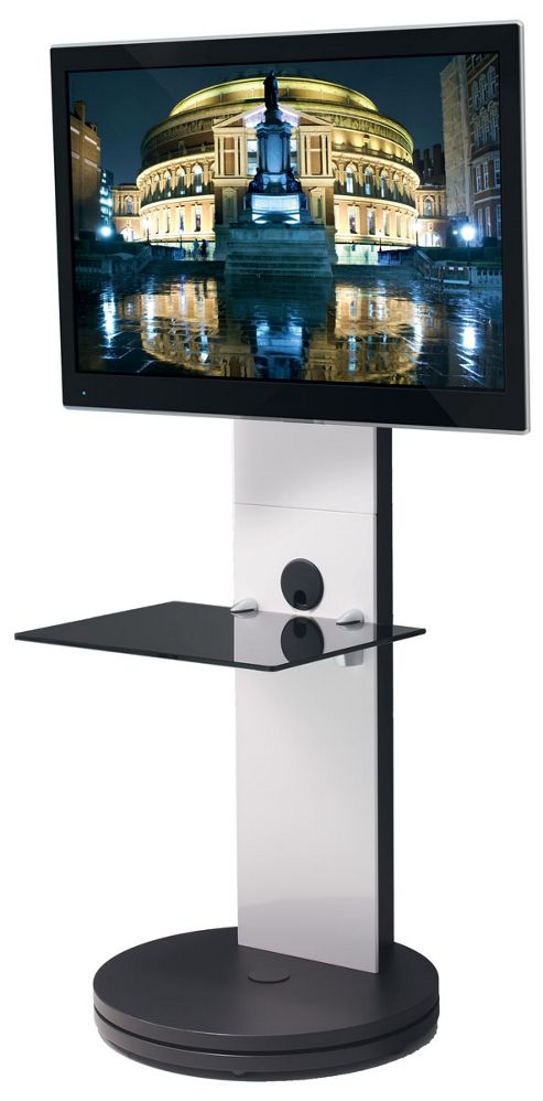 B-Tech BTF811 White Cantilever TV Stand with Swivel