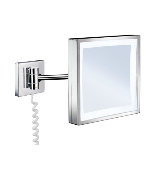 Smedbo Outline Square Make-up Mirror with LED Technology