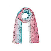 Ditsy Heart Print Long Scarf