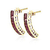 QP Jewellers 5.0ct Ruby Prestige Earrings in 14K Gold