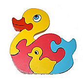 Traditional Wood 'n' Fun Animal Puzzles - Ackerman Toys Duck 12m+