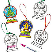 Christmas Snow Globe Suncatchers (6 Pcs)