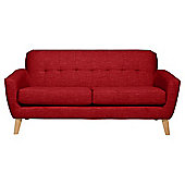 Capri Large 3 Seater Sofa Red
