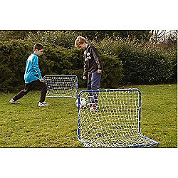 Childrens Mini Football Goal Set of 2 with Netting 45mm x 31mm x 830mm