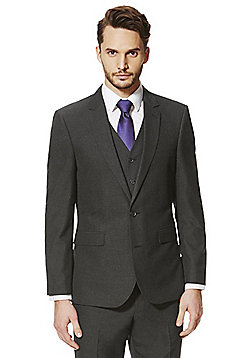 F&F Charcoal Tailored Fit Suit Jacket - Charcoal