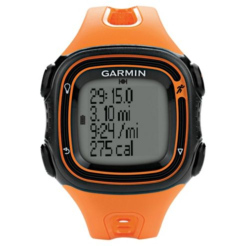 Garmin Forerunner 10 GPS Running Watch, Orange and Black