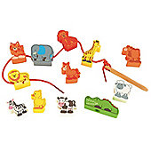 ELC Wooden Threading Animals Set