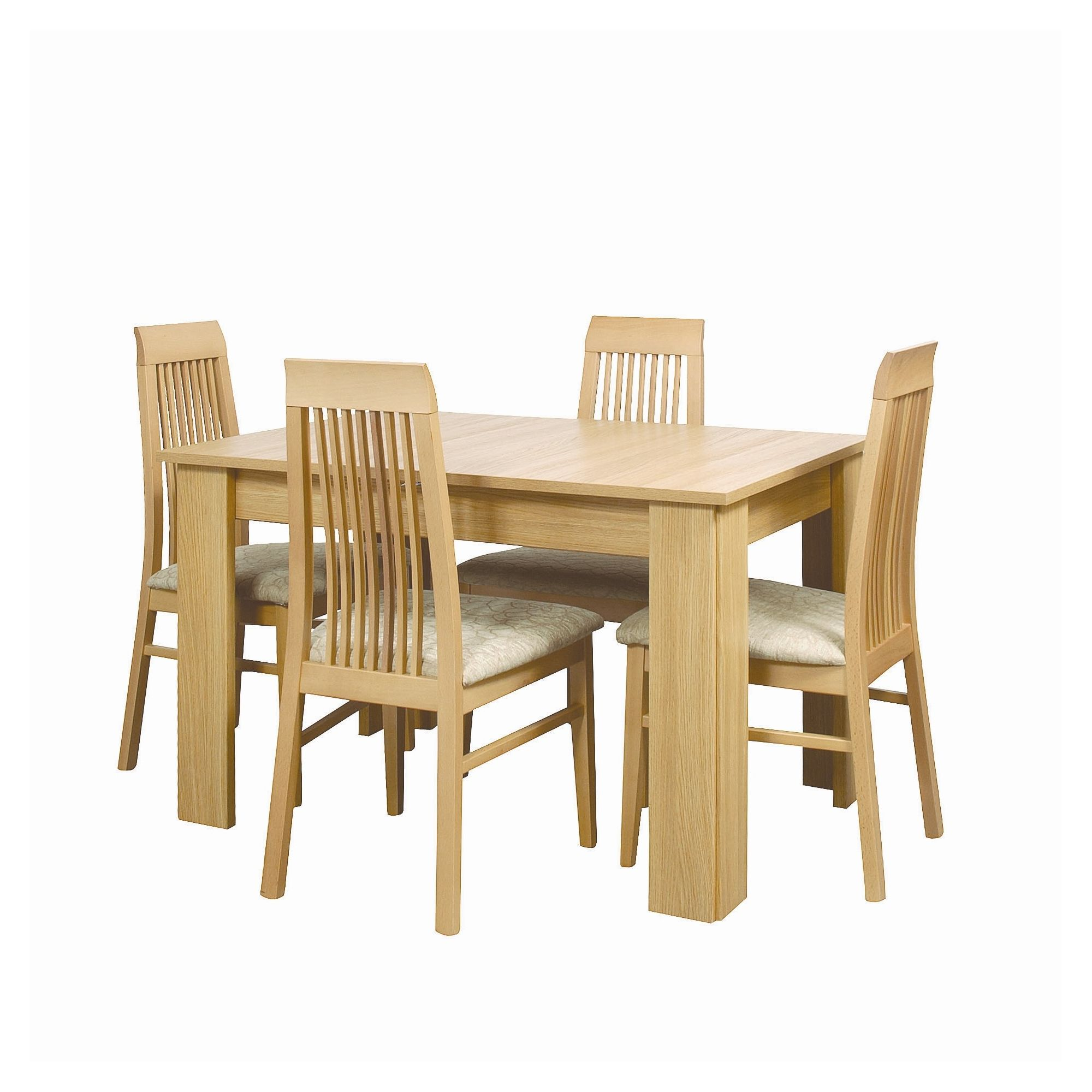Other Caxton Huxley 4 Leg Extending Dining Table with 6 Chairs in Light Oak
