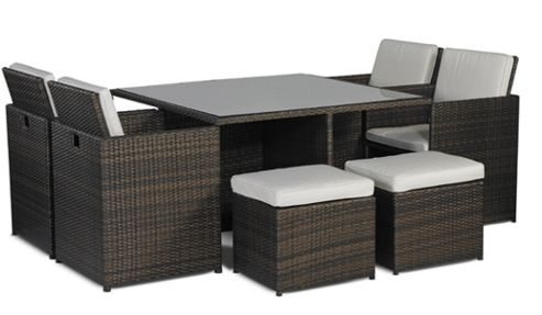 buy savannah rattan 4 seat cube dining set from our rattan. Black Bedroom Furniture Sets. Home Design Ideas