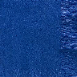 20 Pack Royal Blue Dinner Napkins - 2ply Paper