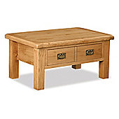 Zelah Coffee Table & Drawer - Rustic Oak