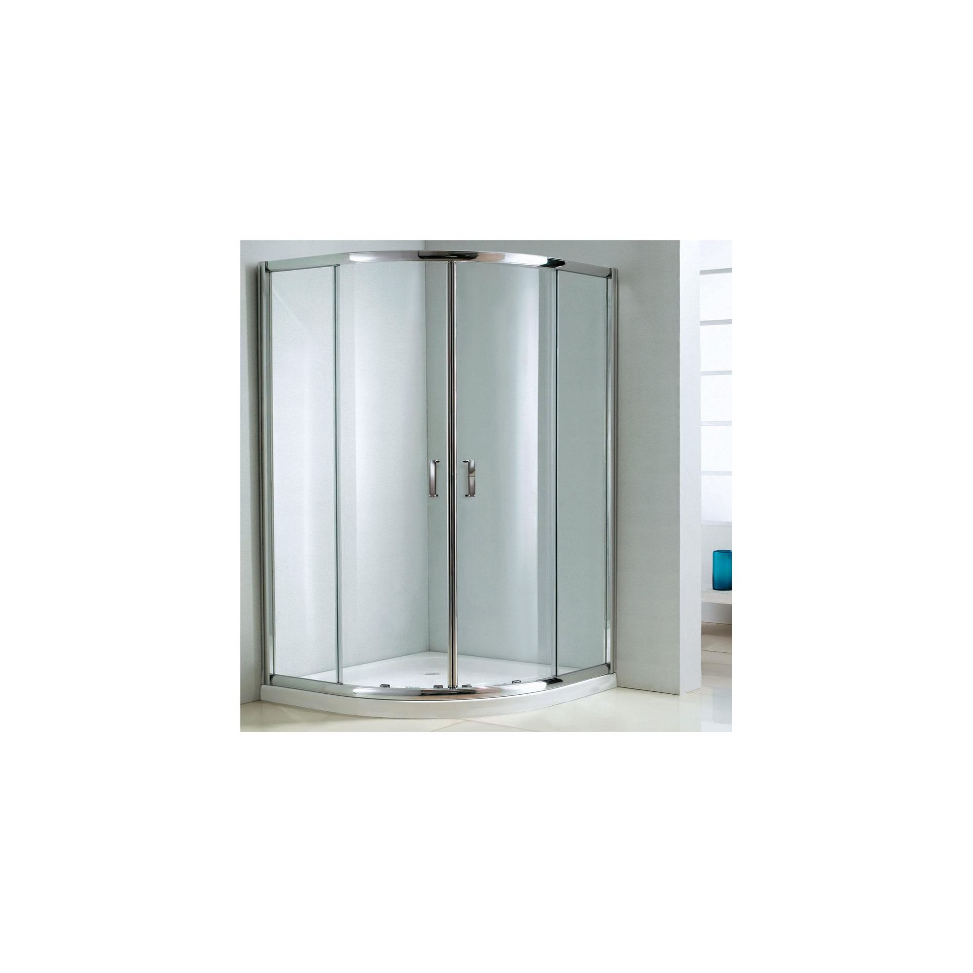 Duchy Style Double Offset Quadrant Door Shower Enclosure, 1000mm x 800mm, 6mm Glass, Low Profile Tray, Right Handed at Tesco Direct