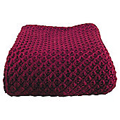 Chunky Knit Throw Red