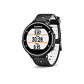 Garmin - Forerunner 230 with Premium Soft-Strap HRM Black and White
