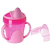 VITAL BABY TWO HANDLED TRAINER CUP PINK