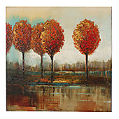 CIMC Home Tuscan Riverside Trees Canvas Art