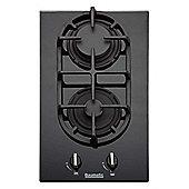 Baumatic BGG32 Two Burner Domino Gas-on-glass Hob - Black