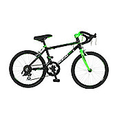 "Viking Scirocco 14 Speed 20"" Wheel Alloy Boys, Black/Green"