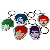 One Direction Fabric Keyring Bundle Harry, Liam, Niall, Louis, Zayn 5 Item Bundle