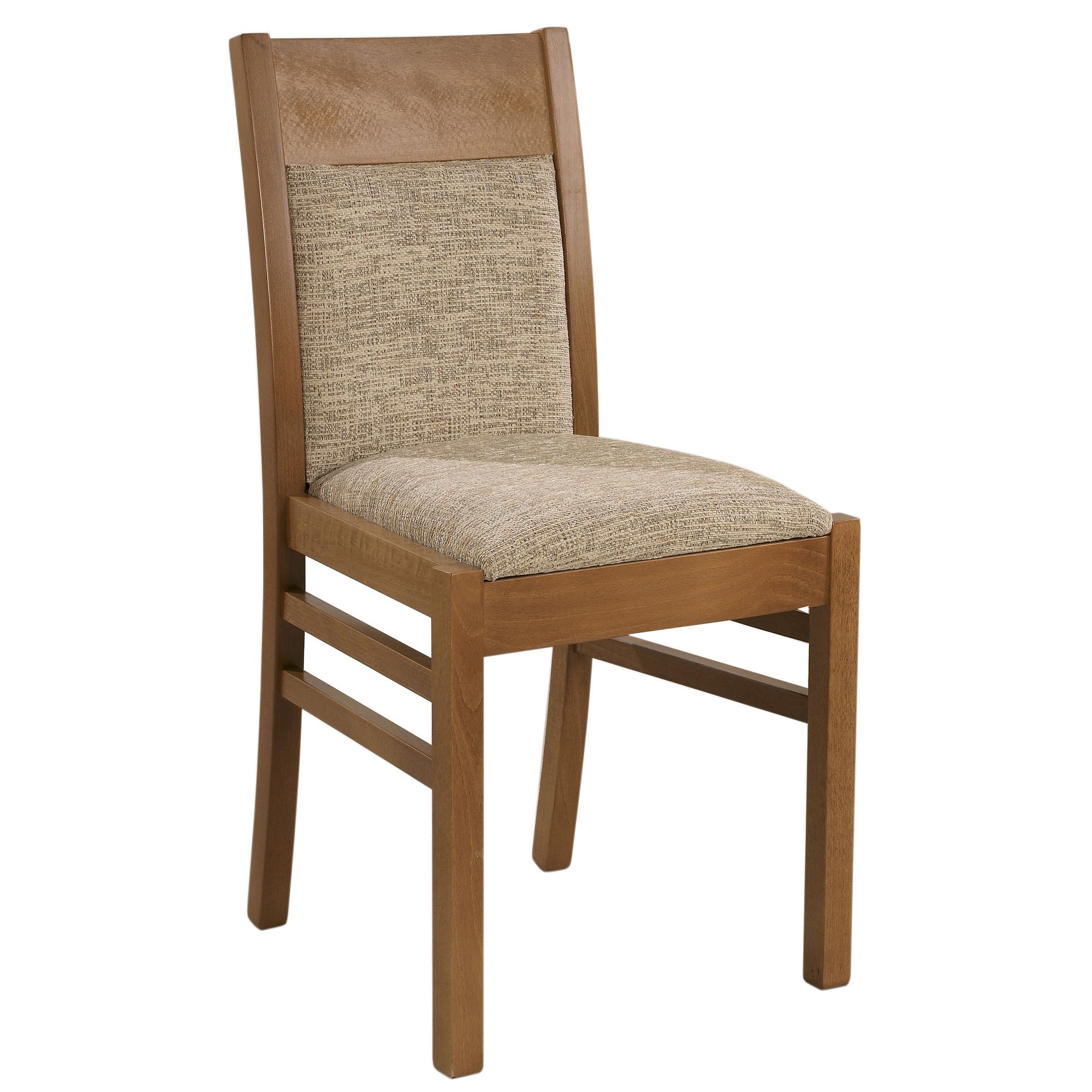 Sutcliffe Furniture Casual Dining Arley Upholstered Dining Chair (Set of 2) - Beige - English Oak