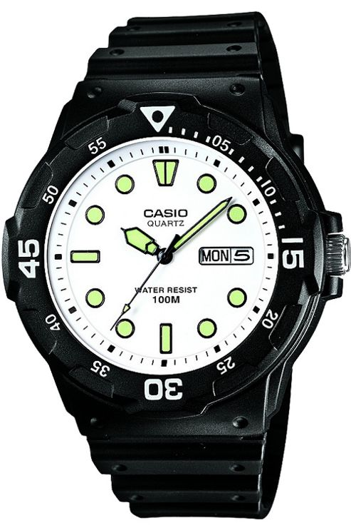 Casio Sport Analog Dive Watch Black and Grey