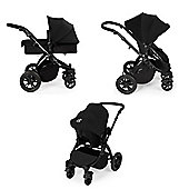 Ickle Bubba Stomp v2 Travel System + Safety Mosquito Net - Black/Black Frame