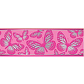 Butterfly border - Pink