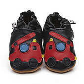 Cherry Kids Soft Leather Baby Shoes Fire Engine - Blue