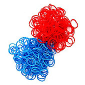 Jacks Red and Blue Double Bracelet Refill Pack - 250 Loom Bands