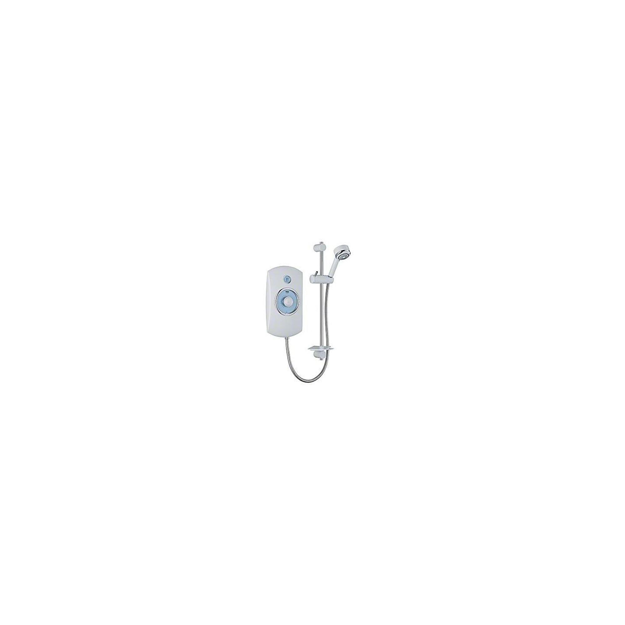 Mira Orbis 9.8 kW Electric Shower with 4 Spray Showerhead, White at Tesco Direct