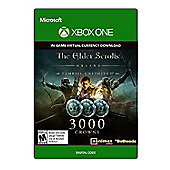 The Elder Scrolls Online: Tamriel Unlimited Edition: 3000 Crowns  Xbox One (Digital Download Code)