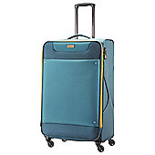American Tourister Ocean Grove 4-Wheel Suitcase, Petrol Blue/Mustard Large