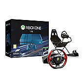 Xbox One Ultimate Driving Bundle with 1TB Forza 6 Limited Edition Console, Thrustmaster Ferrari 458 Spider Wheel and Playseat Challenge Gaming Chair