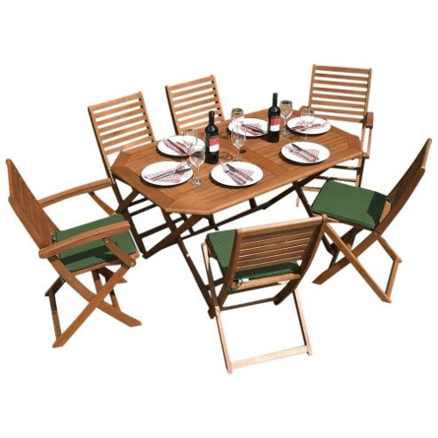 Buy Rowlinson Plumley Rectangular 6 Seater Dining Set With Cushions From Our
