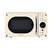 Daewoo KOR6N9RC Digital 800W Microwave Oven 20L - Cream