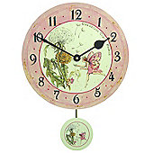 Roger Lascelles Clocks Dandelion Fairy Pendulum Wall Clock