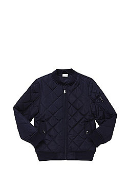 F&F Quilted Bomber Jacket - Navy