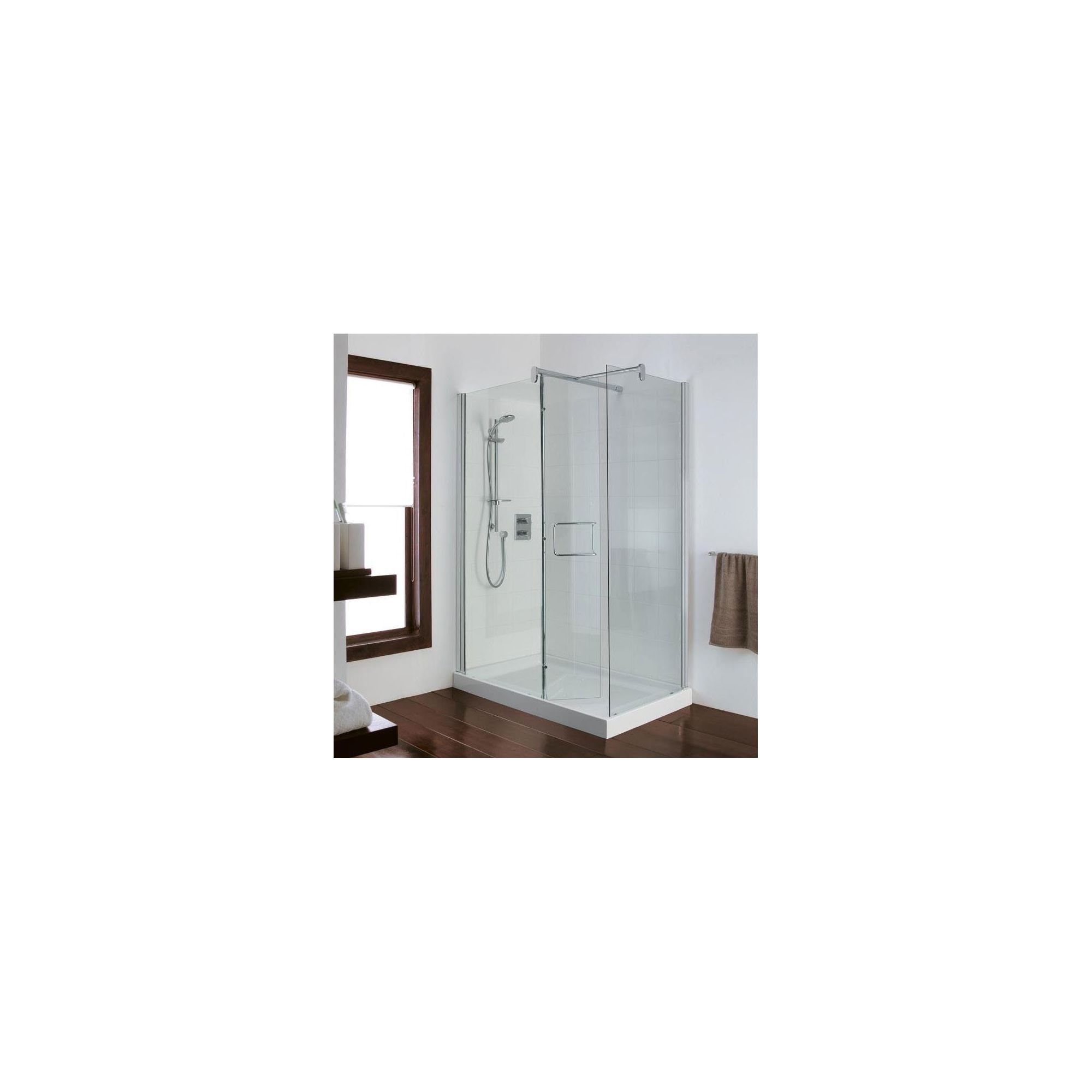 Ideal Standard Serenis Corner 90 Degree Shower Enclosure, excluding Fittings, 1400mm x 900mm, Low Profile Tray, Left Handed at Tescos Direct