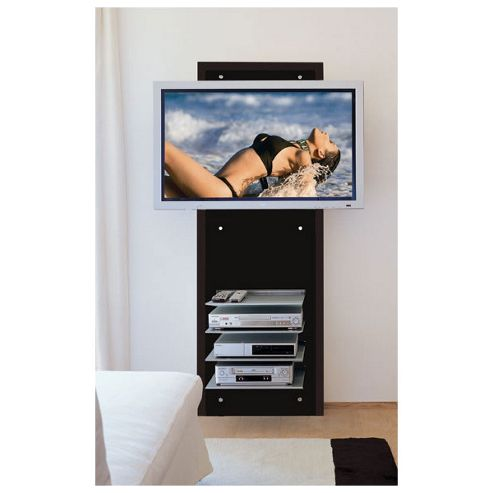 Triskom Wall-Mounted TV Stand - Black
