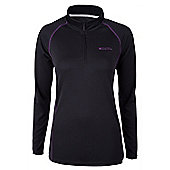 Hike Womens Long Sleeved Top - Black
