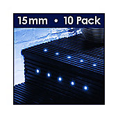 MiniSun Pack of Ten 15mm Blue LED Decking Lights
