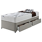 Silentnight Miracoil Luxury Ortho Tuft 2 Drawer King Size Divan Mink no Headboard