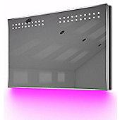 Ambient Shaver LED Bathroom Illuminated Mirror With Demister Pad & Sensor K14sp
