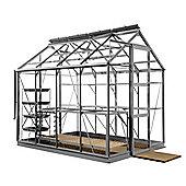 Rhino Premium Greenhouse – 6x8 - Natural Aluminium Finish