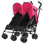 Obaby Apollo Twin Stroller, Black/Pink