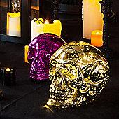 Gold Glass Battery LED Skull Light