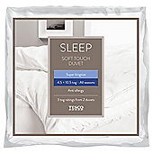 Tesco Soft Touch 4.5/10.5 Tog All Seasons Duvet, Superking